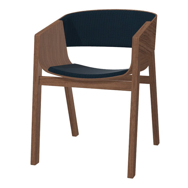 Merano Armchair - Walnut Frame - Upholstered