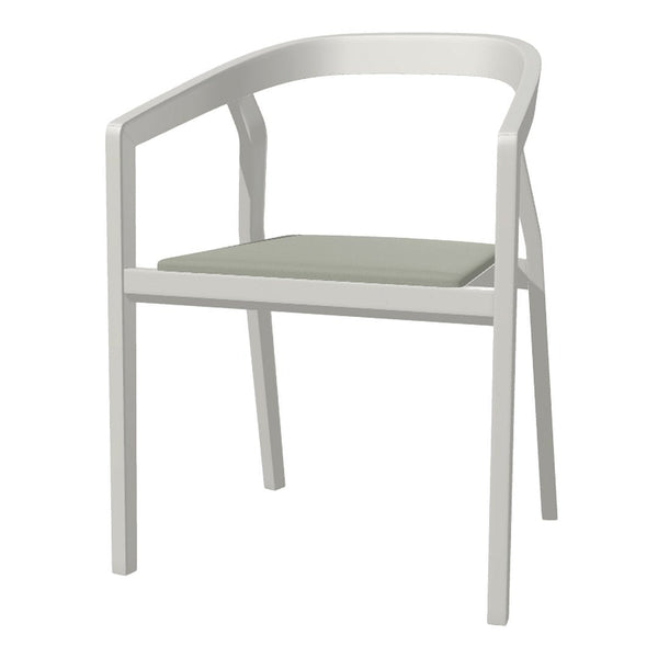 Armchair One - Seat Upholstered - Beech Pigment Frame