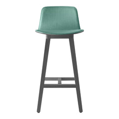Kuskoa Bar Stool - Front Upholstered, Oak Backrest