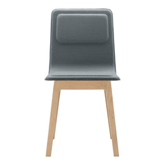 Laia Chair - Front Upholstered, Back in Natural Felt