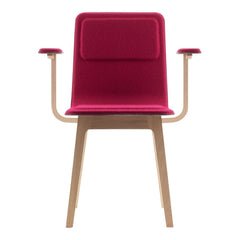 Laia Chair with Armrests - Seat Upholstered