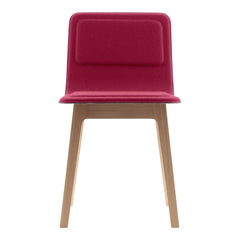 Laia Low Back Chair - Front Upholstered, Back in Natural Felt