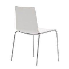 Andreu World Flex High Back Chair - 4-Leg Steel Base, Thermo-Polymer Seat