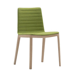 Andreu World Flex High Back Chair - 4-Leg Beech Wood Base, Fully Upholstered Seat