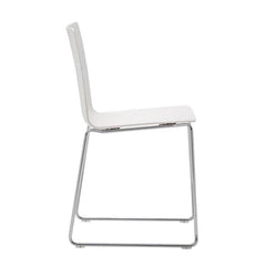 Andreu World Flex High Back Chair - Steel Sled Base, Thermo-Polymer Seat