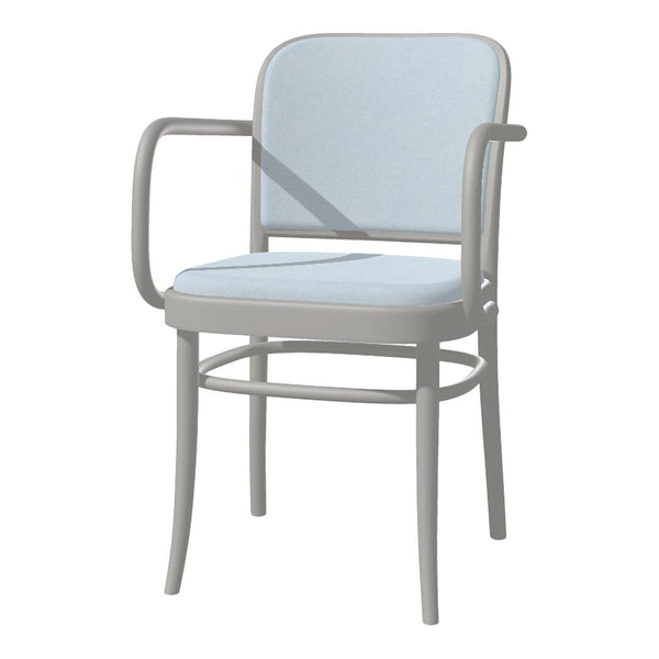 Armchair 811 - Seat & Back Upholstered - Beech Pigment Frame