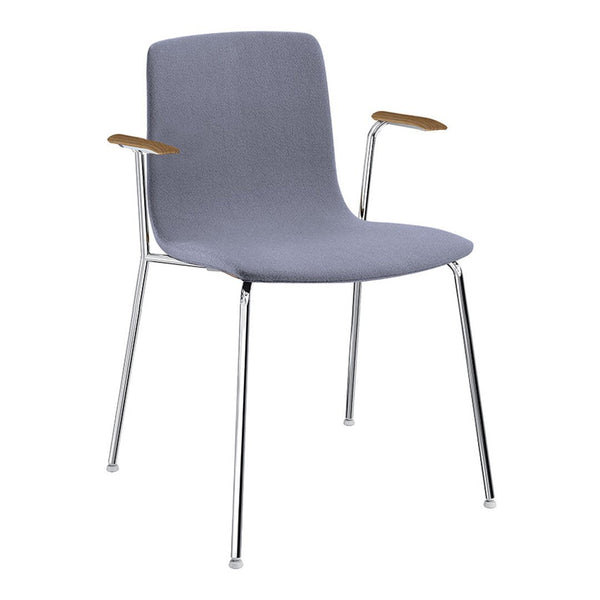 Aava Chair – Steel Base w/ Arms - Upholstered