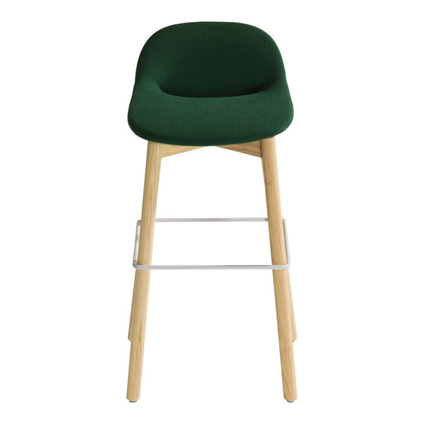 Beso Barstool - 4 Legged, Wood Base