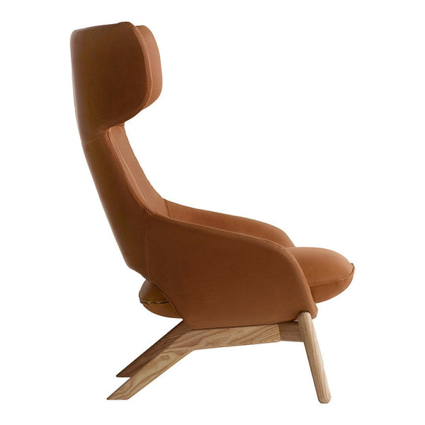 Kalm Comfort Lounge Chair - 4 Legged, Wood Base