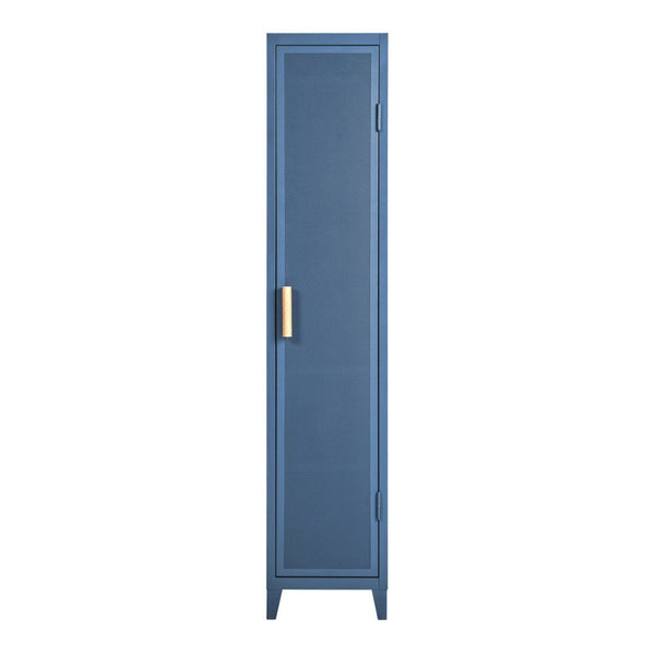Tolix Perforated Locker Wardrobe - Oak Handles