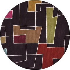 Bense 3000 Rug - Dark Brown/White/Multi