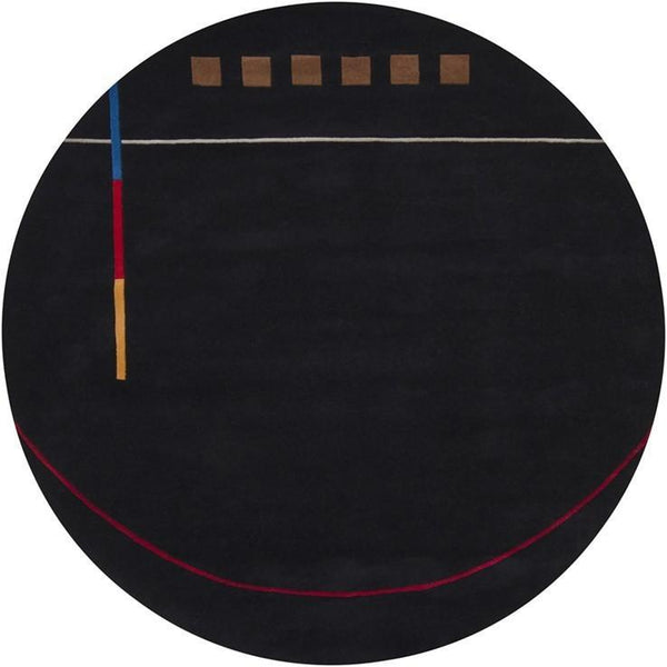 Bense 3016 Rug - Black/Red/Blue/Grey/Gold