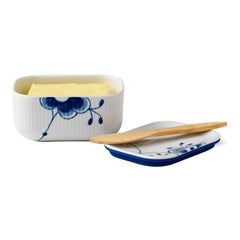 Blue Fluted Mega Butter Dish