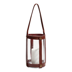 Skargaarden Marstrand Candle Lantern - Dark Brown Leather