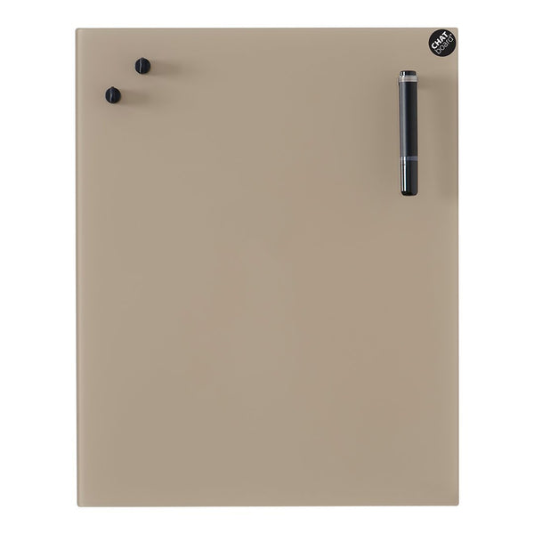 "CHAT BOARD Classic Board - 15.7"" W x 19.7"" H - Mocca 12 - Showroom"