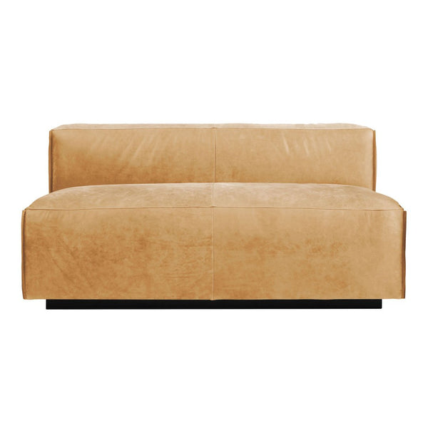 "Cleon 56"" Leather Sofa - No Arms"