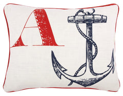 Thomaspaul A Anchor Throw Pillow