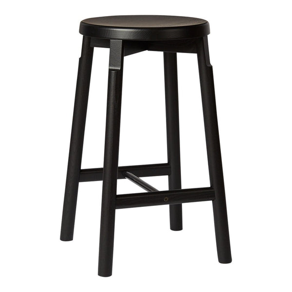 Barn Counter Stool - Ash - Black Painted - Outlet
