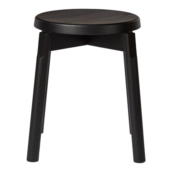 Barn Stool - Ash - Black Painted - Outlet