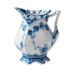 Blue Fluted Full Lace Creamer