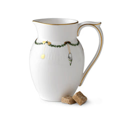 Star Fluted Christmas Creamer