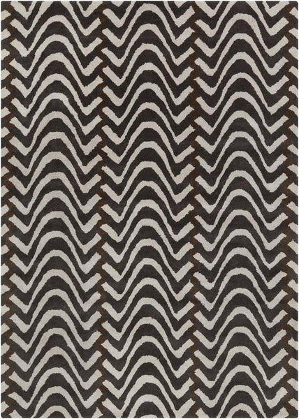 Davin 25813 Rug - Brown/White