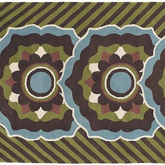 Dharma 7534 Area Rug - Brown/Green/Blue/White