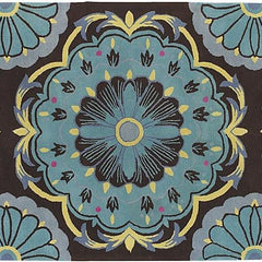 Dharma 7535 Area Rug - Blue/Brown/Yellow/Pink