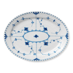 Blue Fluted Full Lace Serving Dishes