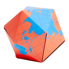 Brendan Ravenhill Dymaxion Globe - Blue and Orange