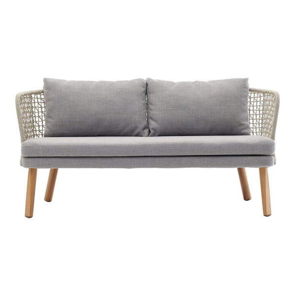 Emma 2-Seater Sofa 23641 - Wood Base