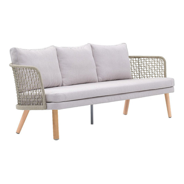 Emma 3-Seater Sofa 23645 - Wood Base
