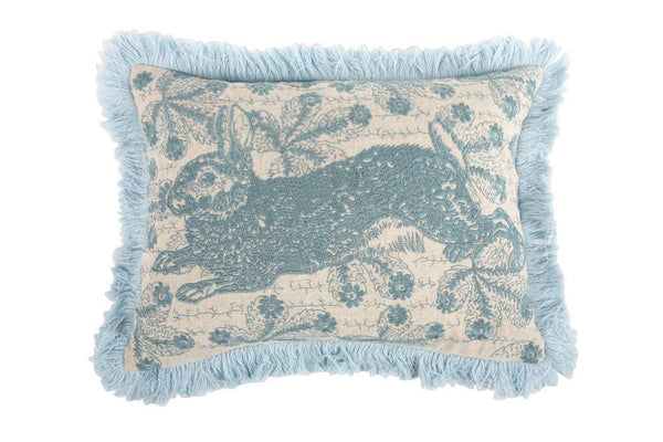 Thomaspaul Transferware Bunny Embroidered Pillow