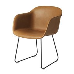 Fiber Chair - Sled Base, Seat Upholstered
