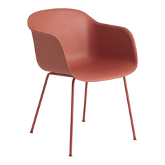 Muuto Fiber Chair - Tube Base - Dusty Red