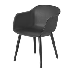 Fiber Chair - Wood Base, Black - Outlet