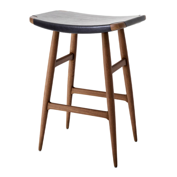 Freja Counter Stool - Leather Seat