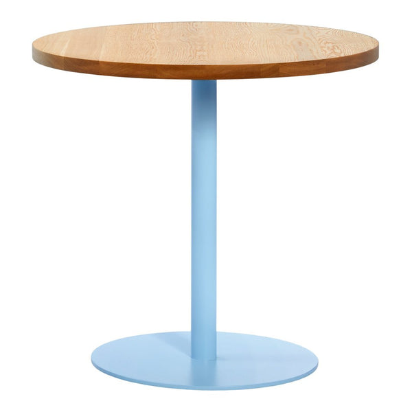 Funk Round Cafe Table - Solid Natural White Oak