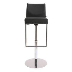 Glooh Upholstered Barstool Swivel Column Frame - Belo Leather 1614 / Chrome