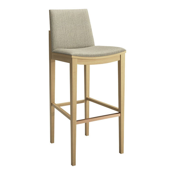 Carlyle Upholstered Barstool - Brushed Copper Foot Bar