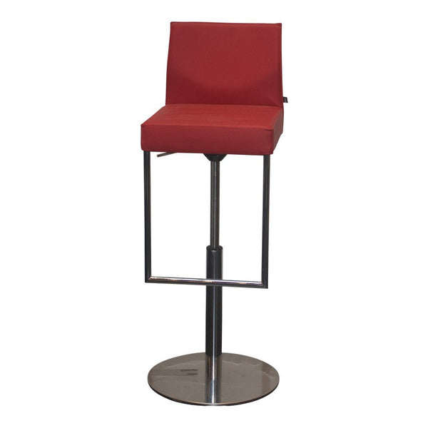 Glooh Upholstered Barstool Swivel Base - Red - Outlet