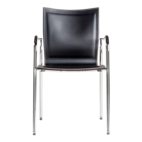 Ikara Armchair - Front Leather Upholstered