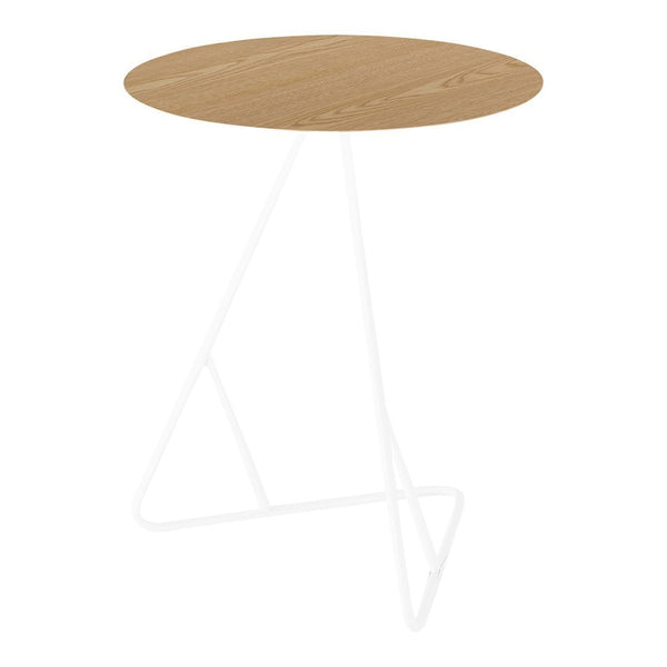 James End Table - Natural Oak / White - Showroom