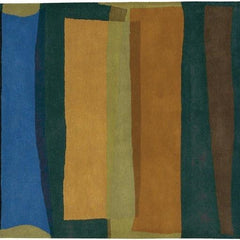 Kathryn Doherty 2007 Rug - Blue/Aqua/Brown/Green