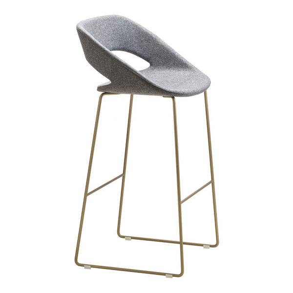 Kabira Bar Stool - Sled Base - Upholstered