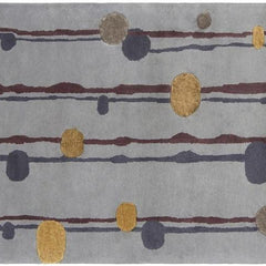 Lost Link 1809 Area Rug - Grey/Gold/Burgundy