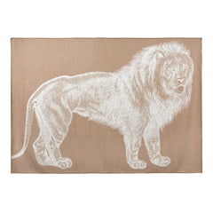 Lion Alpaca Throw