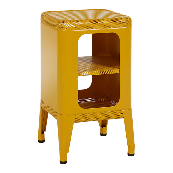Tolix Stool Shelf Side Table - Perforated