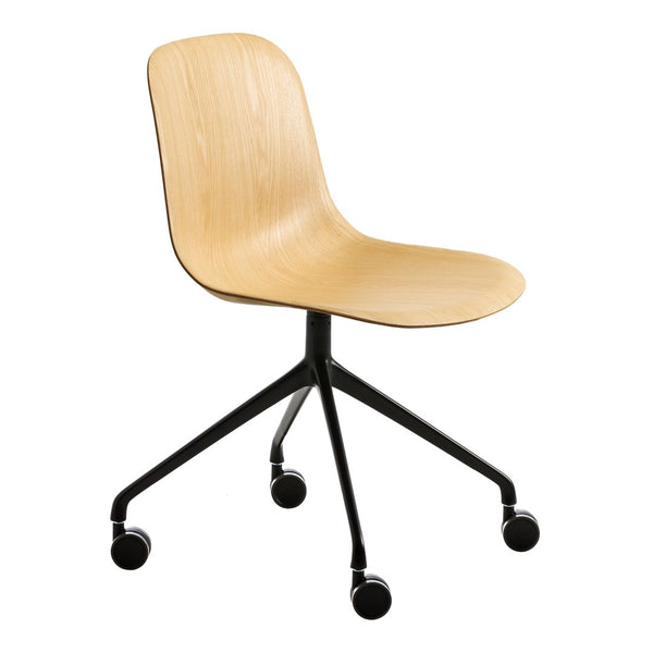 Mani Wood Chair - 4-Star Base w/ Castors