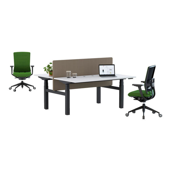 Mobility Step Double Desk - Electric Elevation